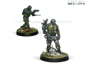 Infinity: 1st. Highlanders S.A.S. (Boarding Shotgun/ Chain Rifle) (0683)