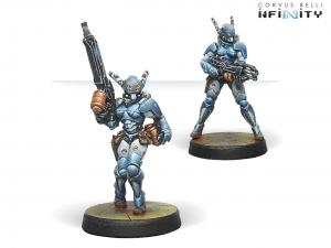 Infinity: Orc Troops (HMG/Boarding Shotgun) (0659)