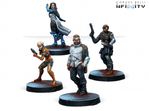 Infinity: Agents Of The Human Sphere. RPG Characters Set (0810)