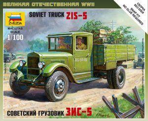 1:100 Zvezda 6124 Soviet Truck ZiS-5 (Art Of Tactic)