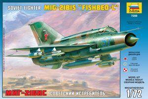 1:72 Zvezda 7259 Mikoyan-Guriewicz MIG-21 Bis Fishbed-L