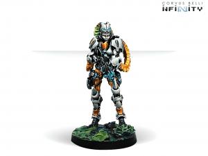 Infinity: Neema Saatar, Ectros Regiment Officer (Spitfire) (0676)