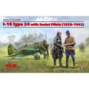 1:32 ICM: I-16 Type 24 With Soviet Pilots (1939-1942)