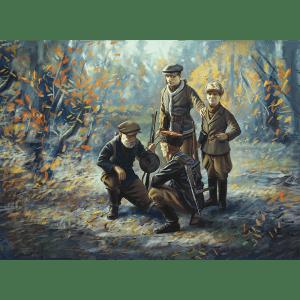 1:35 ICM: WWII Soviet Partisans (4 Figures) (35631)