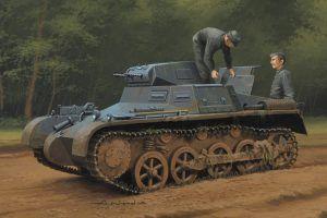1:35 Hobby Boss 80145 German Panzer 1Ausf A Sd.Kfz.101(Early/Late Version) + Calcas Españolas