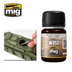 DARK BROWN WASH FOR GREEN VEHICLES (A.MIG-1005)
