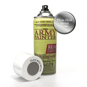 The Army Painter: Color Primer – Platemail Metal (CP3008) Spray