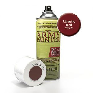 The Army Painter: Color Primer – Chaotic Red (CP3026) Spray