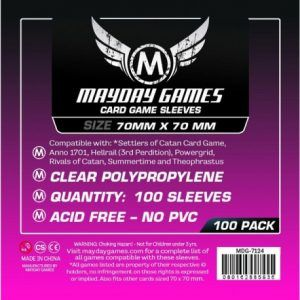 Fundas Mayday: 70×70 Mm Square Small Card Sleeves (100) (7124)