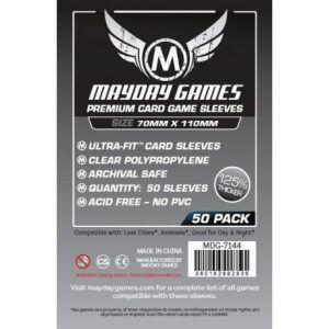 Fundas Mayday: Premium Magnum Silver Sleeve 70×110 (50u) – (7144)