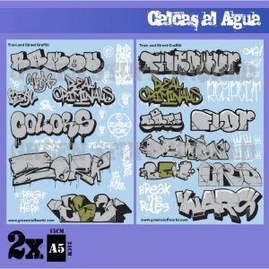 Calcas Al Agua – Mix Graffitis – Oro Y Plata