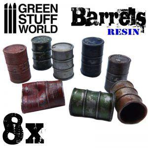 8x Barriles Metalicos De Resina