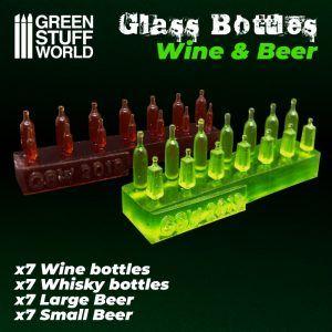 Botellas De Vino Y Cerveza De Resina