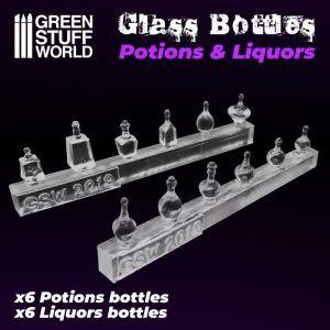 Pociones Y Botellas De Licor De Resina