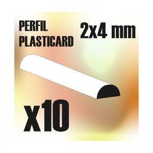 Perfil Plasticard SEMICIRCULO 4mm