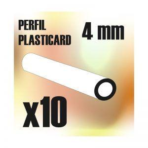 Perfil Plasticard TUBO 4mm