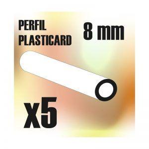 Perfil Plasticard TUBO 8mm