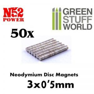 Imanes Neodimio 3×0'5mm – 50 Unidades (N52)