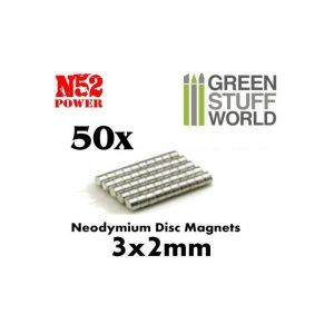 Imanes Neodimio 3x2mm – 50 Unidades (N52)