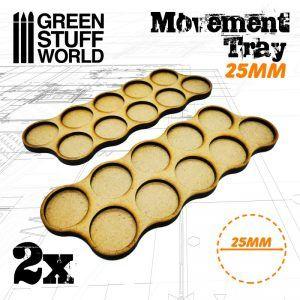 Bandejas De Movimiento DM 25mm X10 – Hostigador