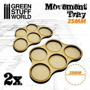 Bandejas De Movimiento DM 25mm X5 – Hostigador