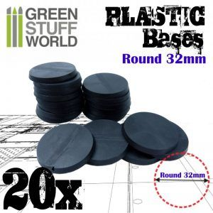 Peanas De Plástico – Redondas 32mm NEGRO