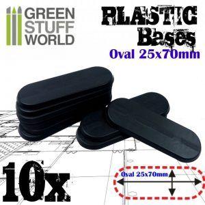 Peanas De Plástico – Ovaladas 25x70mm NEGRO
