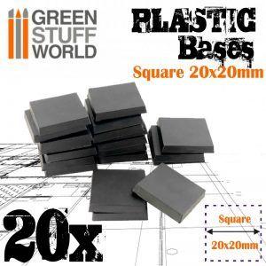 Peanas De Plástico – Cuadradas 20×20 Mm