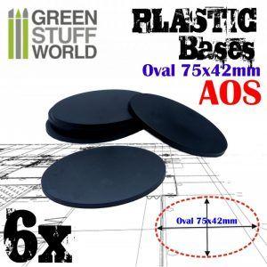 Peanas De Plástico – Ovaladas 75x42mm AOS