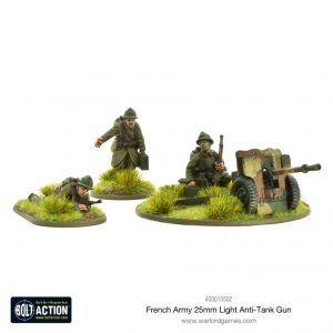 Bolt Action: French Army 25mm Light Anti-tank Gun