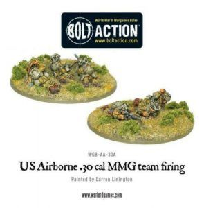Bolt Action: US Airborne 30 Cal MMG Team Firing