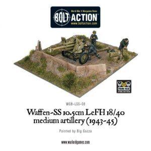 Bolt Action: Waffen-SS 10.5cm LeFH 18/40 Medium Artillery (1943-45)