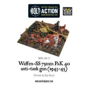 Bolt Action: Waffen-SS 75mm PaK 40 Anti-tank Gun (1943-45)