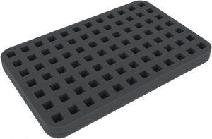 HSMC020BO 20 Mm Half-size Foam Tray 84 Square Cut-outs For Dice