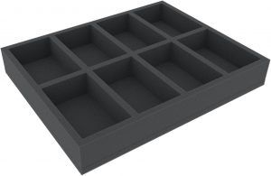 FSMEFC050BO 50 Mm Full-Size Foam Tray With 8 Compartments