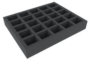 FSLQ050BO 50 Mm Full-Size Foam Tray With 25 Compartments