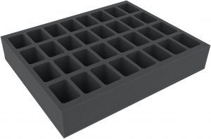 FSMEDS050BO 50 Mm Full-Size Foam Tray With 32 Compartments