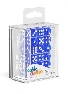 Oakie Doakie Dice Dados D6 12 Mm Translucent – Azul (36)
