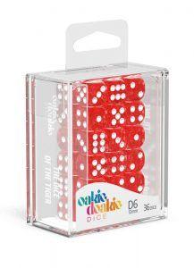 Oakie Doakie Dice Dados D6 12 Mm Speckled – Rojo (36)