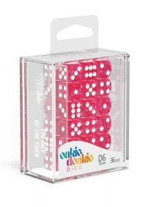 Oakie Doakie Dice Dados D6 12 Mm Speckled – Rosa (36)