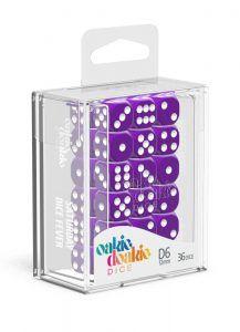 Oakie Doakie Dice Dados D6 12 Mm Solid – Púrpura (36)