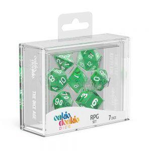 Oakie Doakie Dice Dados RPG-Set Translucent – Verde (7)