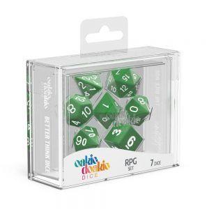 Oakie Doakie Dice Dados RPG-Set Solid – Verde (7)