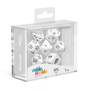 Oakie Doakie Dice Dados RPG-Set Solid – Blanco (7)