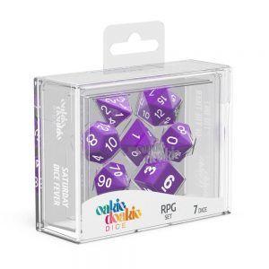 Oakie Doakie Dice Dados RPG-Set Solid – Púrpura (7)