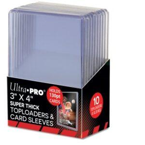 Ultra Pro: Toploader – 3″ X 4″ Super Thick 130PT 10ct
