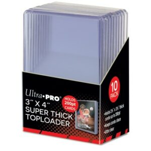 Ultra Pro: Toploader – 3″ X 4″ Super Thick 200PT 10ct