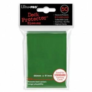 Ultra Pro: Fundas Tamaño Estándar Verde (50u)