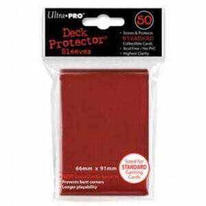 Ultra Pro: Fundas Tamaño Estándar Rojo (50u)
