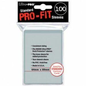 Ultra Pro: Fundas Estándar – Pro-Fit Card Clear (100u)